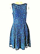 Buy Speechless womens size 7 blue SEQUINED textured lined stretch dress (O)pm