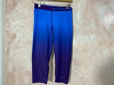 Buy NIKE Pro combat women's capri Activewear Legging size M Blue and purple