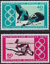 Buy GERMANY BUND [1976] MiNr 0886-87 ( **/mnh ) Olympiade