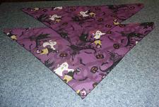 Buy Two Brand New Halloween Purple Witch Design Dog Bandanas For Dog Rescue Charity