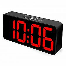 Buy DreamSky 8.9 Inches Large Digital Alarm Clock with USB Charging Port, Fully Desk