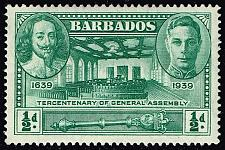 Buy Barbados #202 Tercent. Of General Assembly; Unused (4Stars) |BAR0202-02XVA