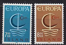 Buy ISLAND ICELAND [1966] MiNr 0404-05 ( **/mnh ) CEPT