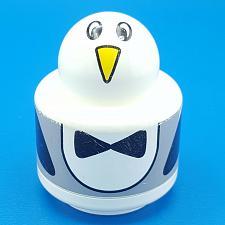 Buy Lego Duplo Primo Round Baby Rattle 1x1 Animal Face Penguin Pattern Brick White