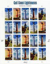 Buy 2009 44c Gulf Coast Lighthouses, Sheet of 20 Scott 4409-13 Mint F/VF NH