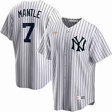 Buy Mickey Mantle New York Yankees White Home Cooperstown Collection Player Jersey