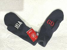 Buy Navy Cable Knit Mittens Gloves Go USA Winter Olympic Team Adult One Size