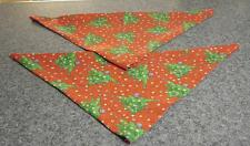 Buy Two Brand New Red Christmas Tree Design Dog Bandanas For Dog Rescue Charity