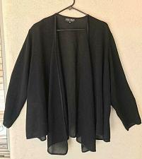 Buy Women's Long Sleeve Asymmetrical Cardigan Black Size OS