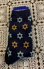 Buy Brand New Crew Socks 4 to 10 Hanukkah Jewish Star Of David 4 Dog Rescue Charity