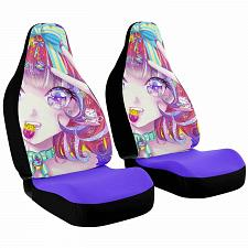Buy Neko Chan Car Seat Covers Nerdy Geeky Pop Culture Set of 2 Front Seat