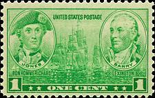 Buy 1936 1c John Paul Jones & John Barry, Army - Navy Scott 790 Mint F/VF NH