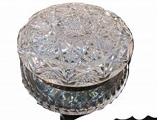 Buy ABP Crystal Cut Glass covered large round dresser box