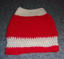 Buy Brand New Hand Crocheted Red White Dog Snood Neck Warmer For Dog Rescue Charity