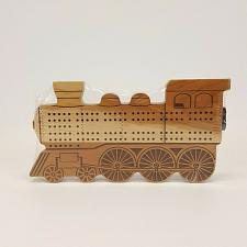 Buy Train Engine Locomotive Cribbage Board Cherry Wood Maple Landmark U.S.A.