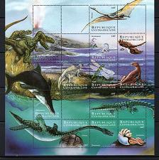 Buy CENTRAL AFRICA - 2001 Prehistoric Animals M2874