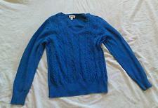 Buy St. Johns Bay® Womens Pullover Sweater Blue Long Sleeve- V Neck- Size Large