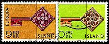 Buy ISLAND ICELAND [1968] MiNr 0417-18 ( O/used ) CEPT