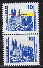 Buy GERMANY DDR [1990] MiNr 3344 F24,I 2er ( **/mnh ) Plattenfehler