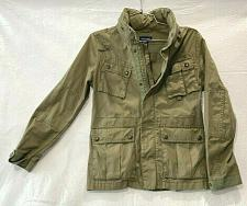 Buy Ralph Lauren Field military jacket snap buttons Pockets Girls Green Size L:12/14
