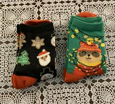 Buy Two Pairs of Brand New Ladies Christmas Crew Socks Size 4 to 10 For Dog Charity