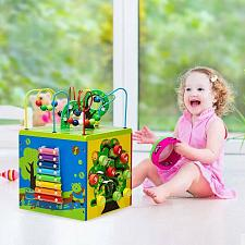 Buy 5-in-1 Wooden Activity Cube Toy