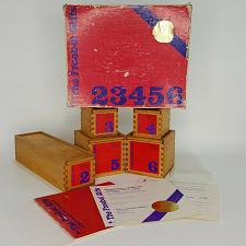 Buy 1983 Froebel Gifts 23456 Educational Wood Building w/ Numbered Certificate
