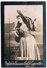 Buy Ogden's Guinea Gold Cigarettes Tobacco Card Miss Irene Iris