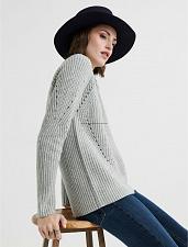 Buy Lucky Brand Crew Neck Pointelle Sweater XL