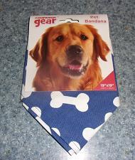 Buy Brand New Companion Gear Blue Dog Bone Design Dog Bandana For Dog Rescue Charity