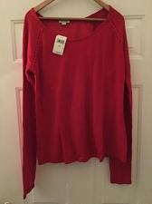 Buy 190365321749 Lucky Brand - Women's XL - NWT $49 -Red Split Back Lace Thermal Tee