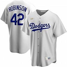 Buy Jackie Robinson Brooklyn Dodgers White Home Cooperstown Collection Player Jersey