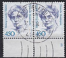 Buy GERMANY BUND [1992] MiNr 1614 2er ( O/used ) [01] Unterrand, FormNr