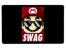 """Buy Mario 1 Large Mouse Pad 10"""" x 16"""" Mat Placemat Pop Culture Inspired Nerdy Geeky"""