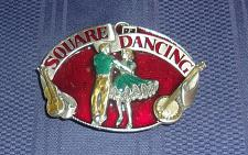 Buy 1985 Sishiyou Buckle Co Square Dancing Metal Belt Buckle For Dog Rescue Charity