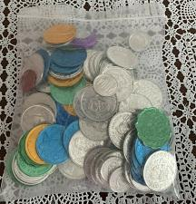 Buy Lot of 105 Assorted Mardi Gras Tokens 1989 to 2004 For Dog Rescue Charity