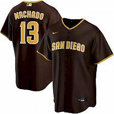 Buy Manny Machado San Diego Padres Brown Alternate Replica Player Jersey