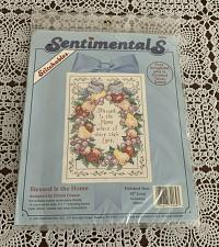 Buy Brand New Sentimentals Counted Cross Stitch Kit 72064 Blessed Is The Home