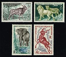 Buy French Equatorial Africa #195-198 Animals Set of 4; MNH (4Stars) |FRE198set-03