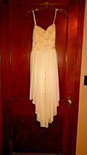 Buy Women's/Junior's City Triangles White/Beige Colored Formal Dress- Size 13