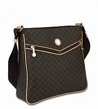 Buy RIONI Brown Monogrammed Canvas Messenger Bag ST-20250