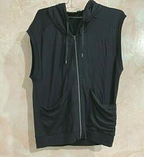 Buy Athleta Womens Activewear Vest Top Black Sleeveless Hooded Full Zip Stretch xxs
