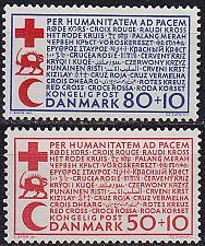 Buy DÄNEMARK DANMARK [1966] MiNr 0438-39 ( **/mnh ) Rotes Kreuz