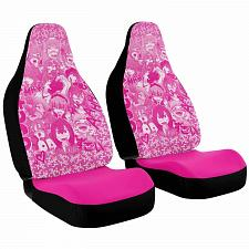 Buy Ahegao Anime Pink Car Seat Covers Nerdy Geeky Pop Culture Set of 2 Front Seat