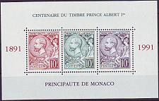Buy MONACO [1991] MiNr 2024-26 Block 51 ( **/mnh )