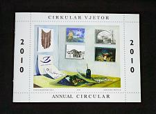 Buy Annual Circular Booklet Year 2010 of Albania Stamps. Albanian & English language