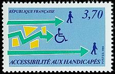 Buy 1988 France, Aid to the Handicapped Scott 2114 Mint F/VF NH