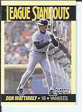 Buy Don Mattingly 1990 Fleer League Standouts