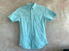 Buy Uniqlo men's cotton slim fit shirt front button down short sleeve size XS aqua