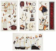 Buy RoomMates RMK1255SCS Chefs Peel and Stick Wall Decals ,Multicolor